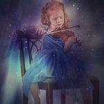 girl, child, violin