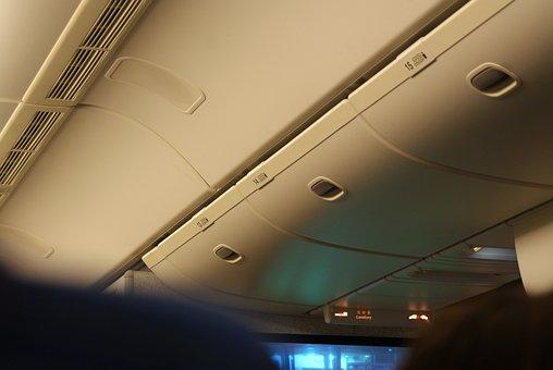 飛行機, 機内, 中, 座席