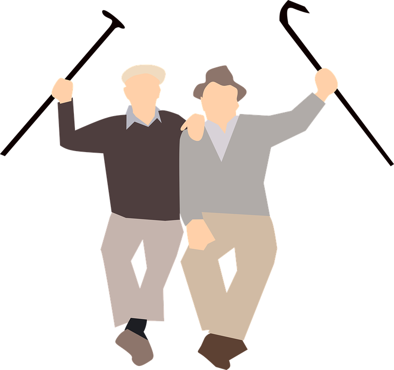 Old Friends Happy · Free vector graphic on Pixabay