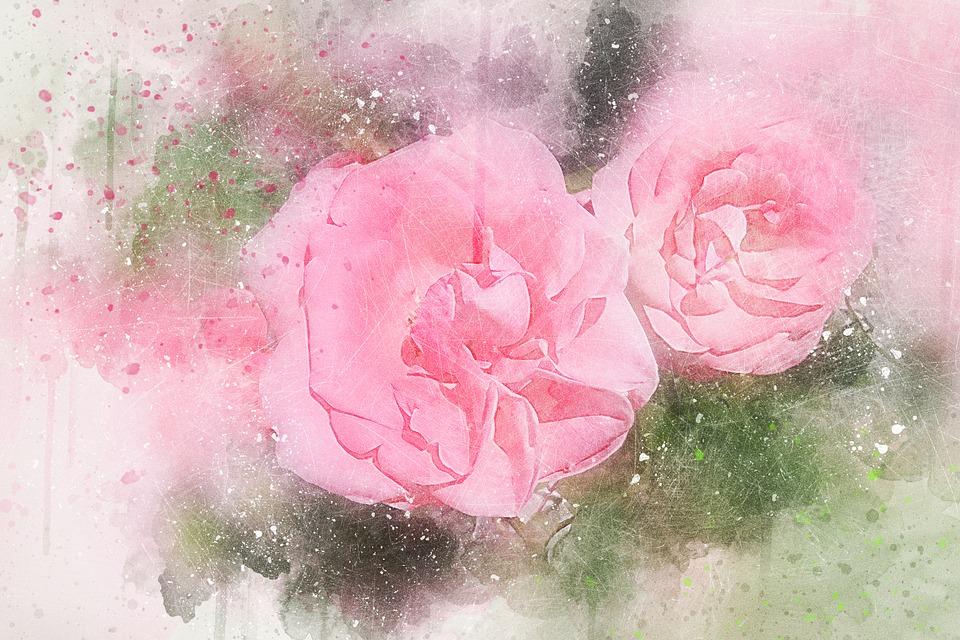 92+ Gambar Abstrak Bunga Mawar HD