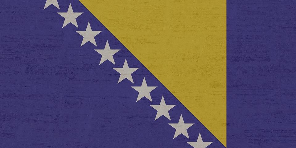 Bosnien-Herzegowina, Flagge