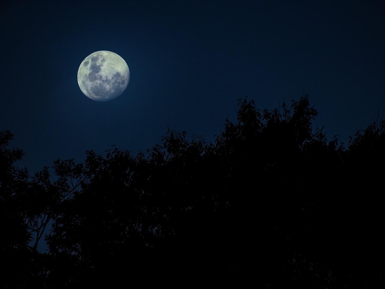 центре села картинки луны ночью в хорошем качестве волков