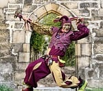 castle, middle ages, jester