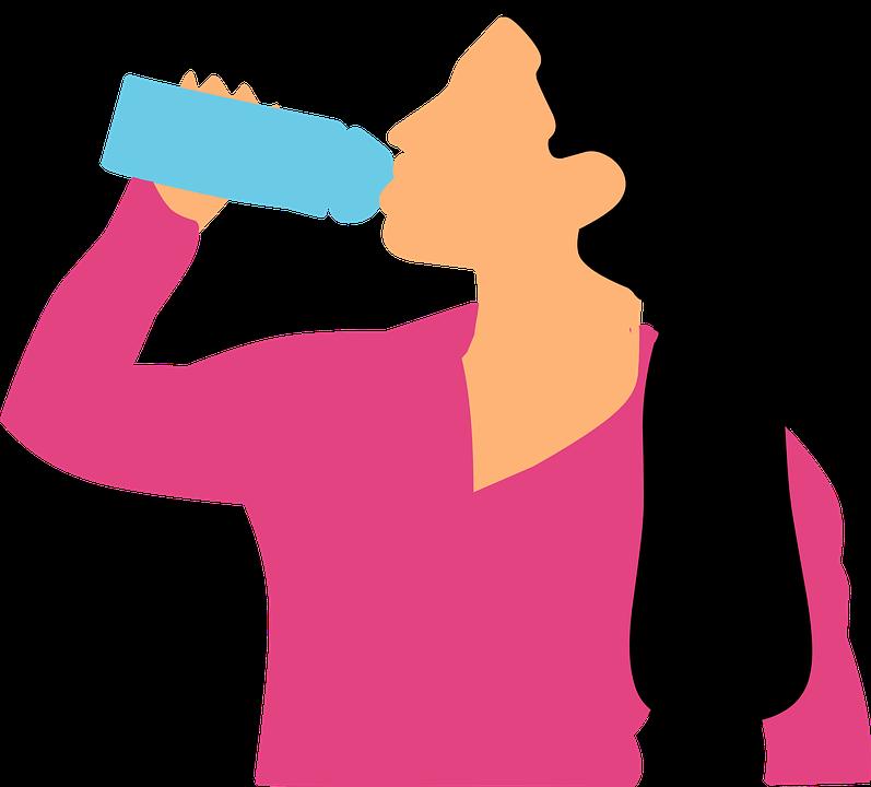 Drinking, Water, Woman, Bottle, Sportswear