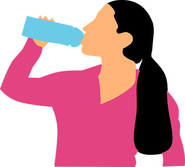 Drinking, Water, Woman, Bottle