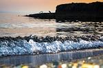 sea, stones, boulders