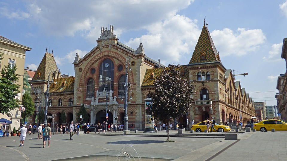 Budapest, Great Market Hall, Building, Architecture