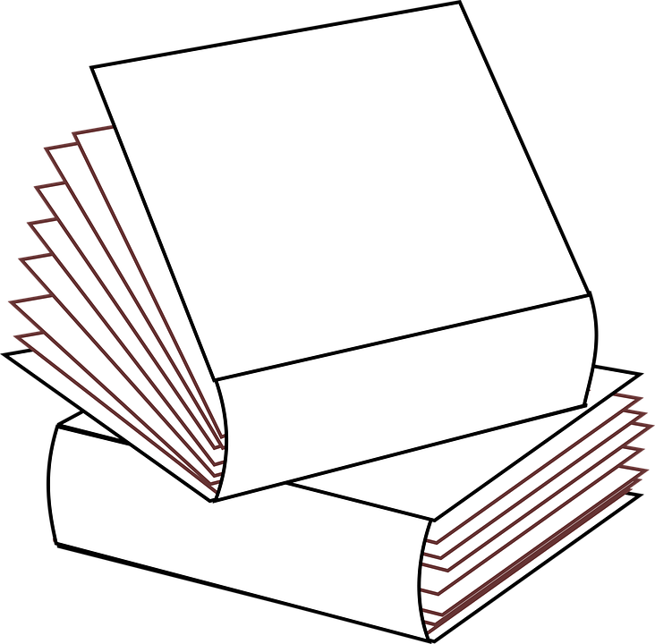 Stacked 2 Books No Colors · Free image on Pixabay