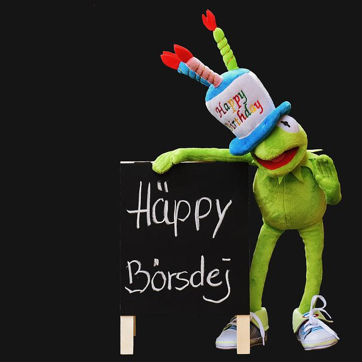 Geburtstag gl ckw nsche kermit kostenloses foto auf pixabay - Frosch auf englisch ...