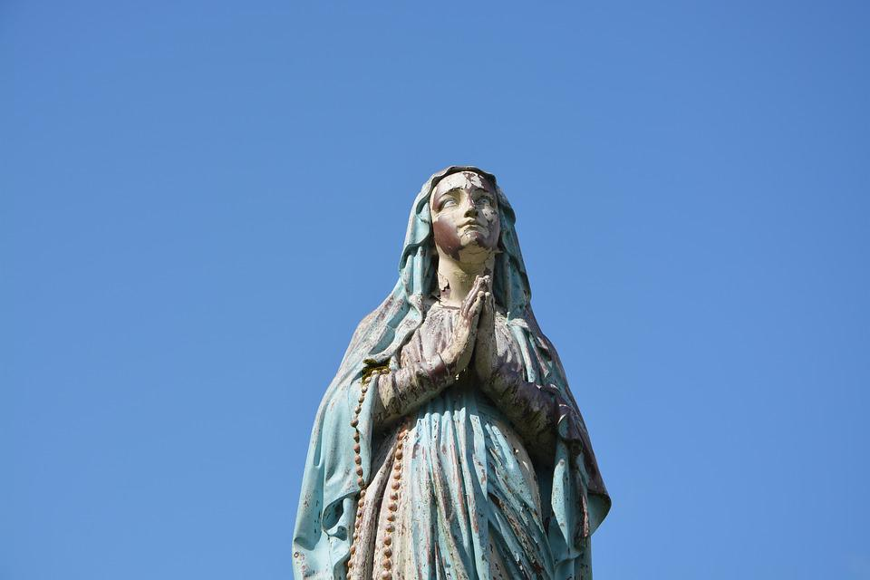 Statue Sainte Vierge, Marie, Personnage Religieux