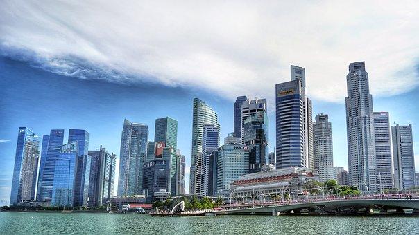 Singapore, Singapore River, Skyline