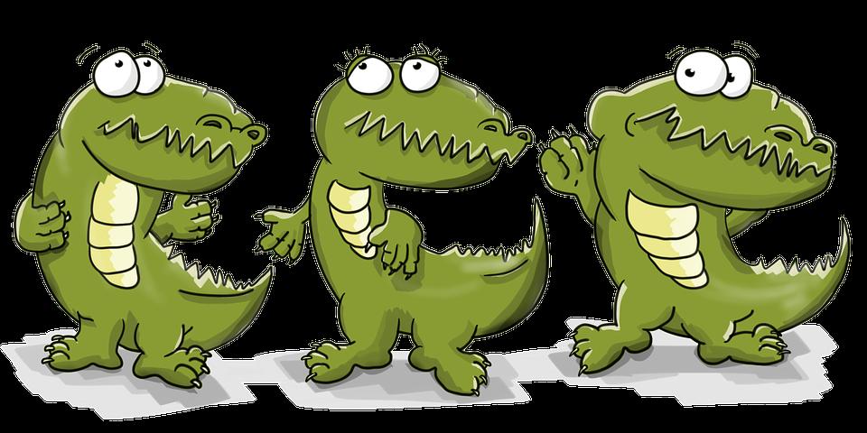 Populaire Illustration gratuite: Crocodiles, Dansant, Dessin Animé - Image  QX73