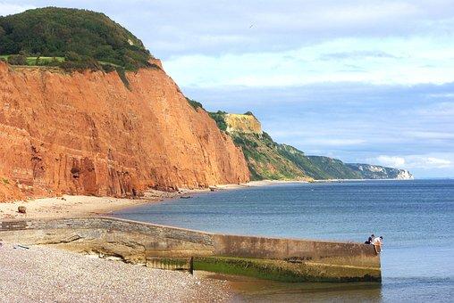Jurassic Coast, Sidmouth, Devon, England