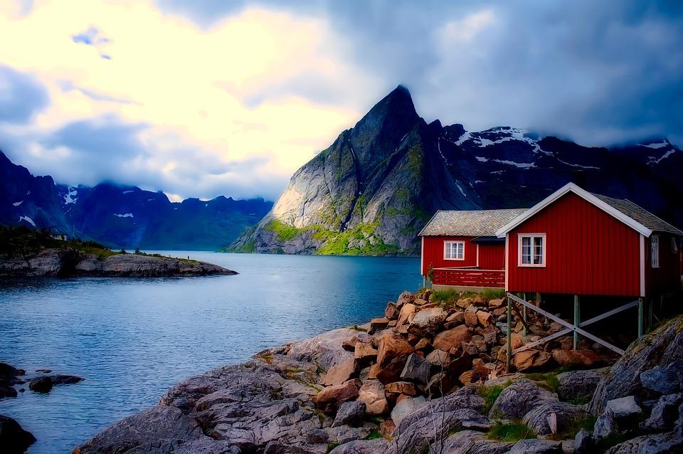 Norwegen Ferienhaus Haus Kostenloses Foto Auf Pixabay