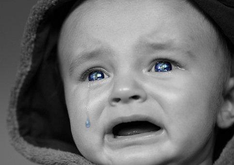 Huilende Baby, Baby, Gezicht, Expressie