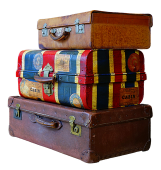 Luggage, Stack, Old, Antique