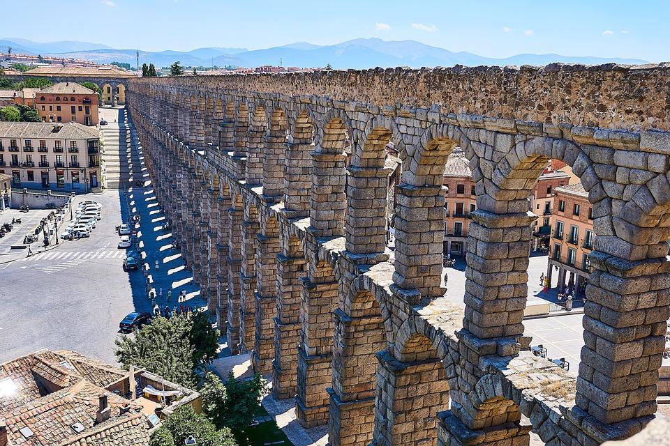 España, Segovia, Acueducto, Patrimonio De La Humanidad