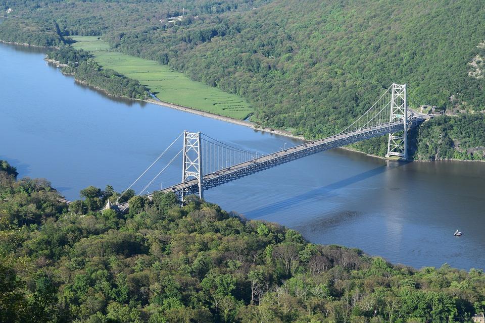 Jembatan, Bear Mountain Bridge, Gunung, Alam, Air