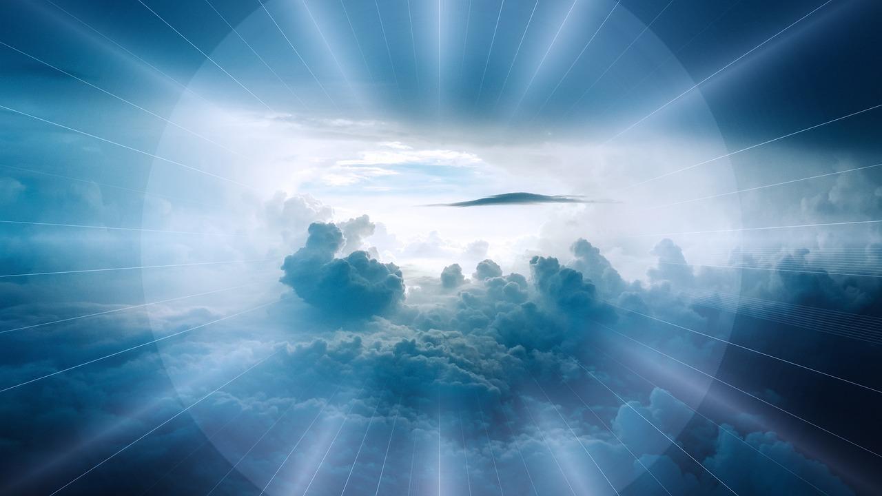 雲, 風景, 超えて, 空, 光線, マジェスティック, 宗教, 信仰, 光, 地平線, 最後に, 死, 復活