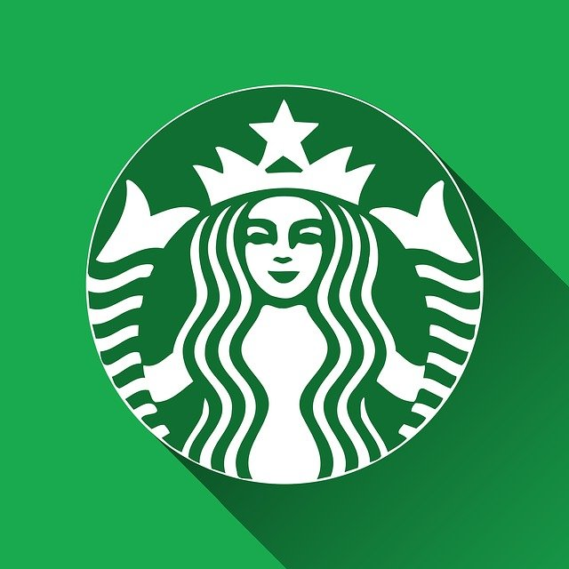 starbucks logo long shadow free image on pixabay