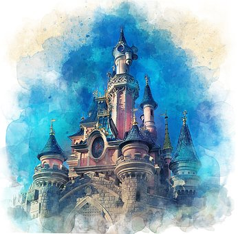 Disneyland, Castle, Paris, Tourism