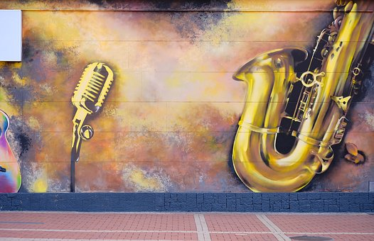 Paint, Street, Wall, Grafitti, Music