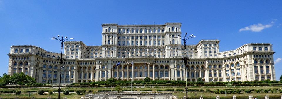 Bukareszt, Rumunia, Budynku, Parlament, Pałac, Kapitału