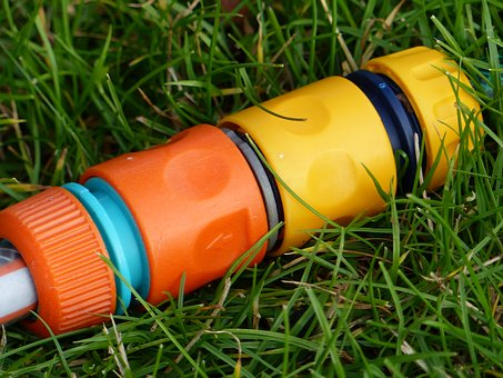 Hose Couplings, Colors, Grass, Garden