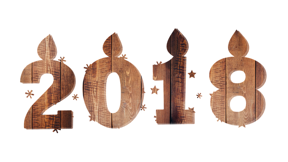 clipart sticker wood 2018 happy new year