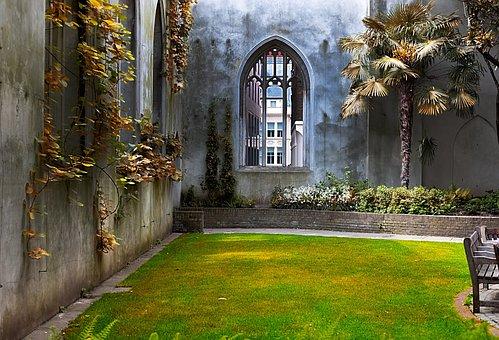 Anglais, Jardin, Nature, Printemps
