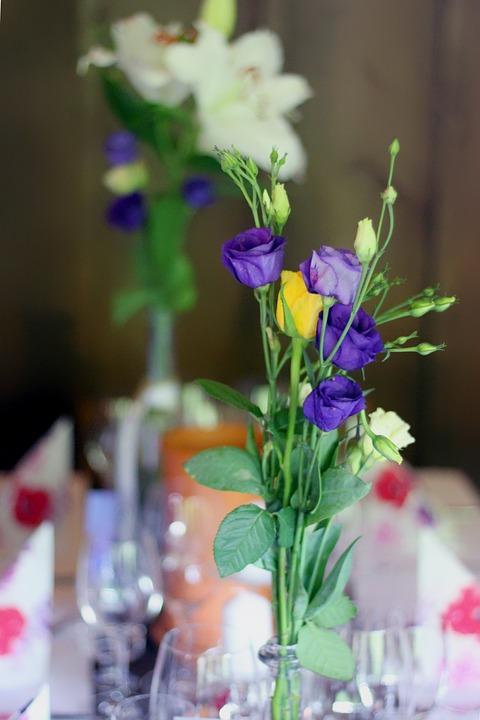 Blumen Vase Tisch Kostenloses Foto Auf Pixabay