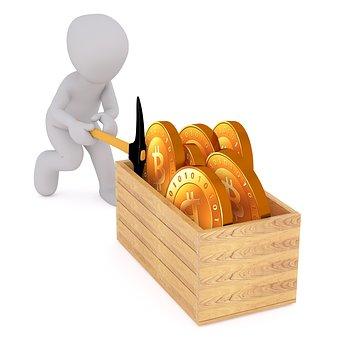 比特币, 采矿, 加密货币, 加密, 块链, 加密的货币, Btc, 丹岛