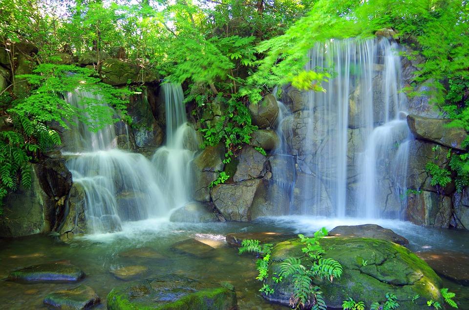 水, 渓谷, 緑, 山, 風景, 森, 滝, 自然, 日本, 川, 水源, 静けさ, 岩, 渓流, 鮮やか