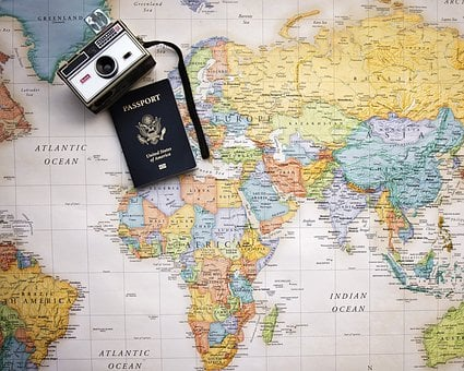 Passport, Map, World, Trip, Tourism