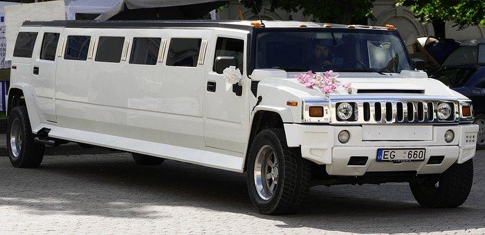A Hummer limousine