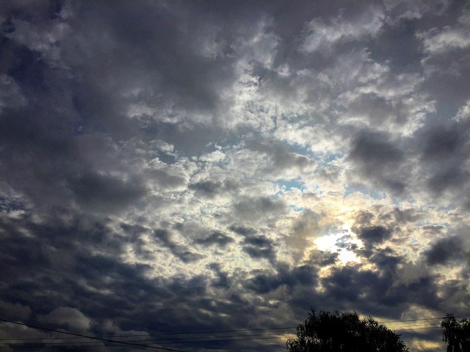 クラウド, 空, 光, サンセット, 曇り空, 居心地の良い, 太陽の光, 色