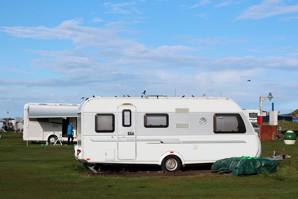 Caravana, Camping, Vacaciones, Vivir, Al Aire Libre