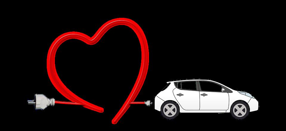 electric car heart environment free image on pixabay rh pixabay com Valentine Heart Clip Art Human Heart Clip Art