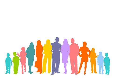 Multitud, Humanos, Siluetas, Personales