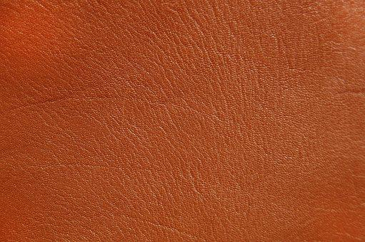 Leather, Background, Structure, Orange
