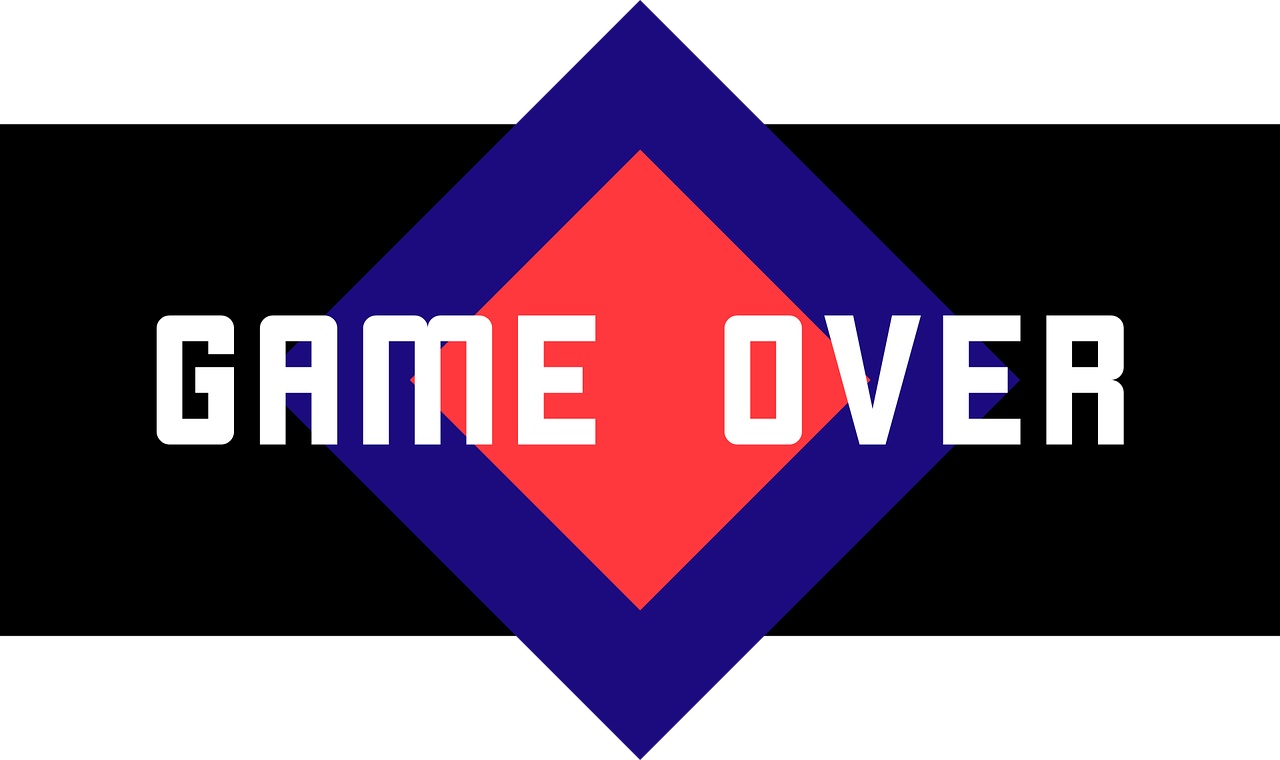 Game Over Free Vector Graphic On Pixabay