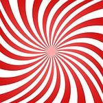 spiral, swirl, red