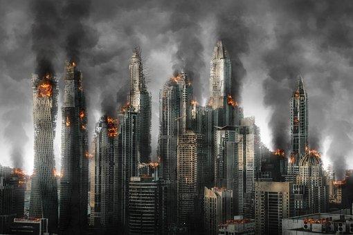 ハルマゲドン, 災害, 破壊, 戦争, 放棄された, 損傷, アーキテクチャ