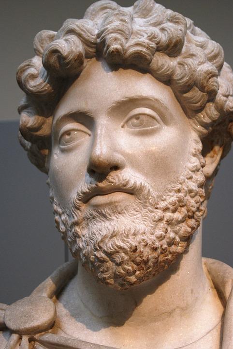 Marcus Aurelius, Roman, Emperor, Statue, Face, Beard