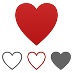 heart, icon, vector