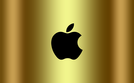 Apple Logo, Logo, Apple, Golden
