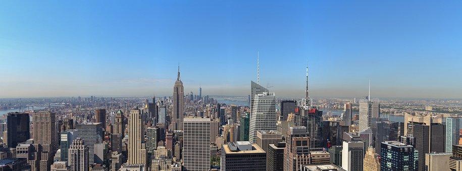 New York, Skyline, Manhattan, Nyc
