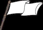 flag, white flag, symbol