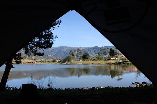 Camping, Lake, Lagoon, Nature, Park