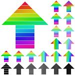 arrow, colorful, logo